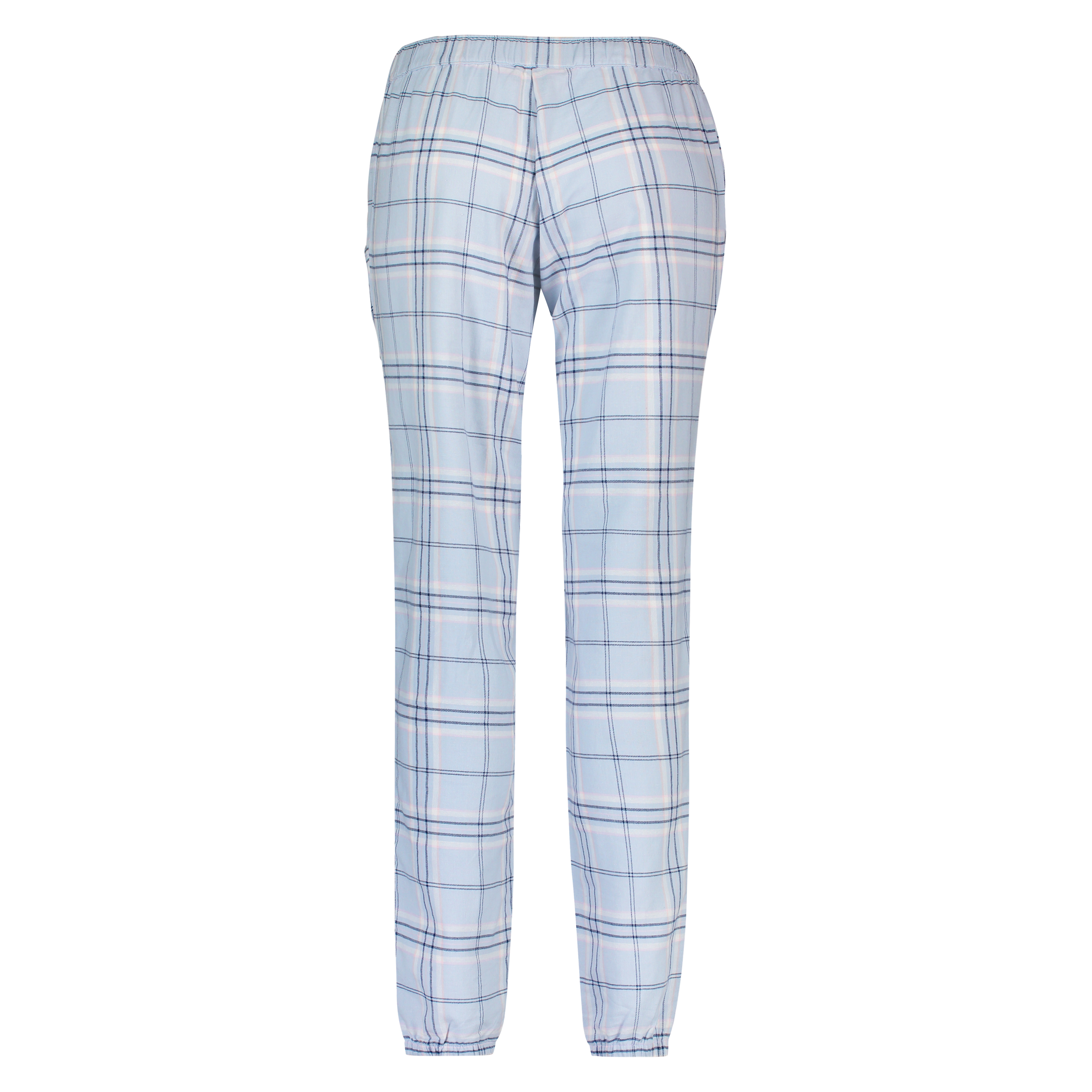 Pyjamabroek Twill Check, Blauw, main