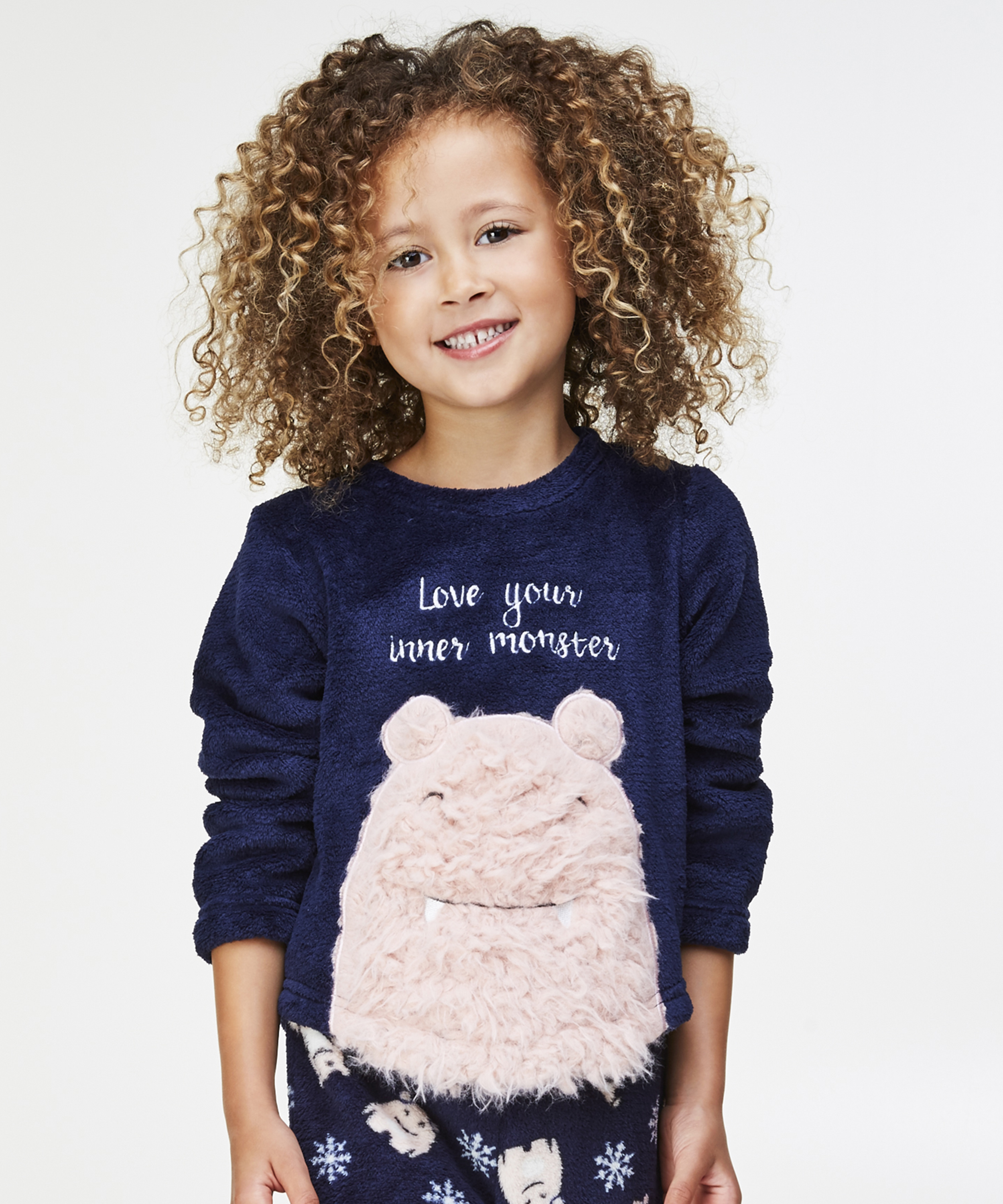 Fleece sweater Kids, Blauw, main