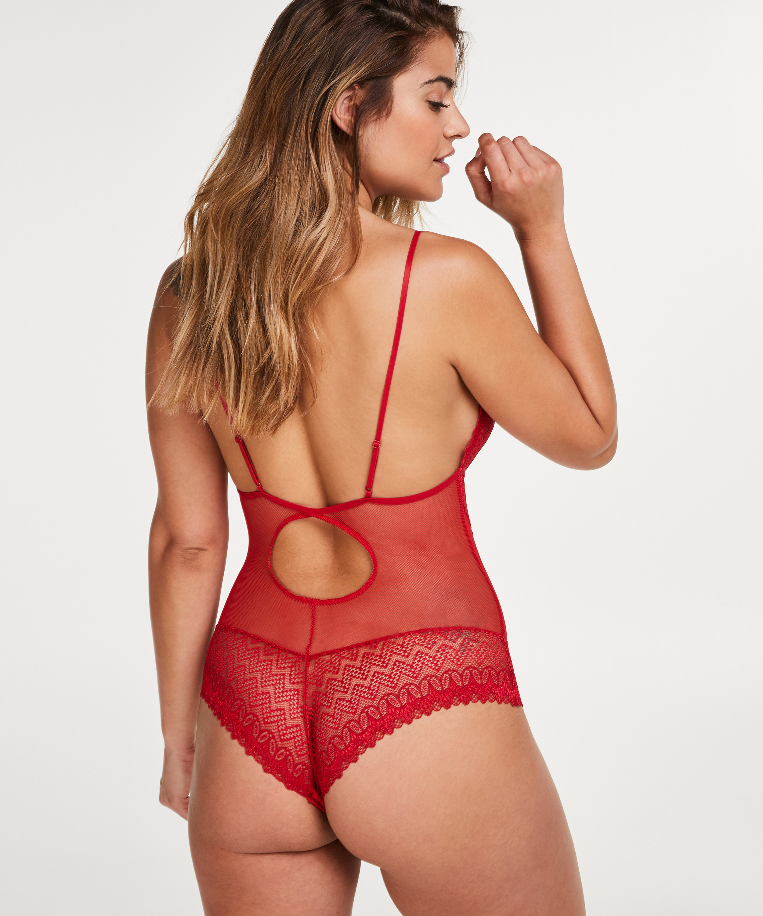 Body Geo Lace, Rood, main