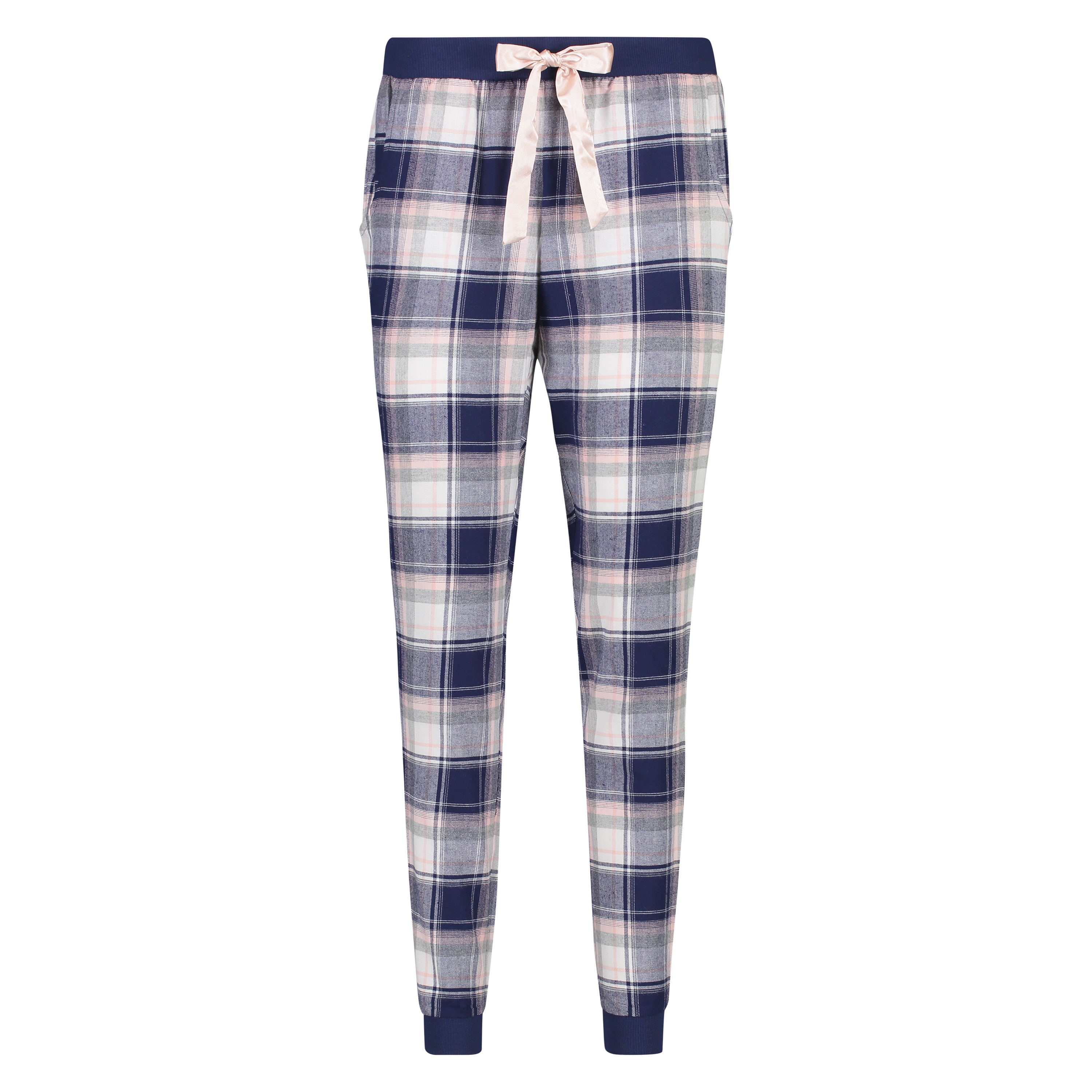 Pyjamabroek Check, Blauw, main