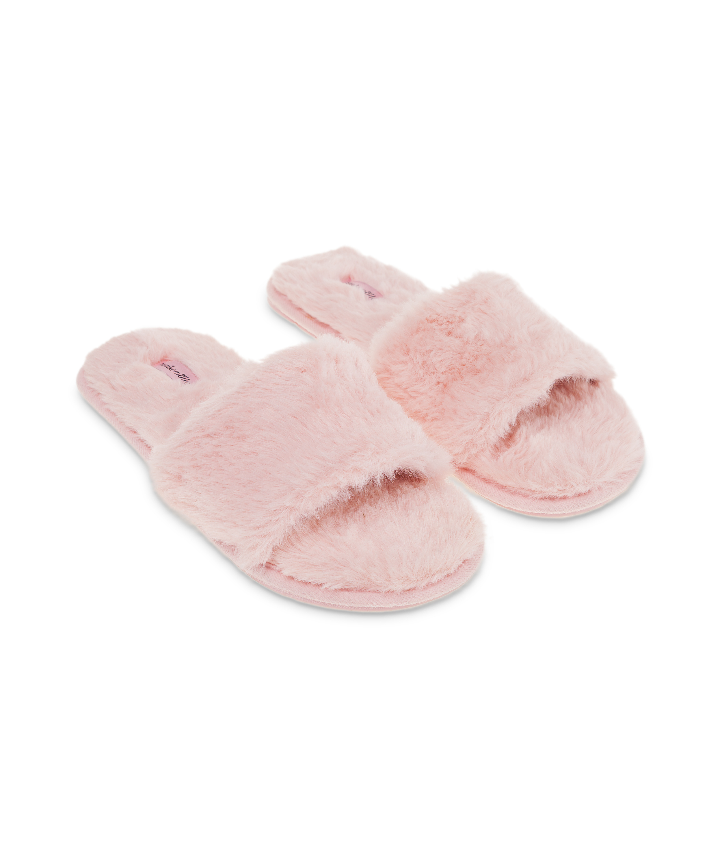 Huisslippers Fur Top, Roze, main