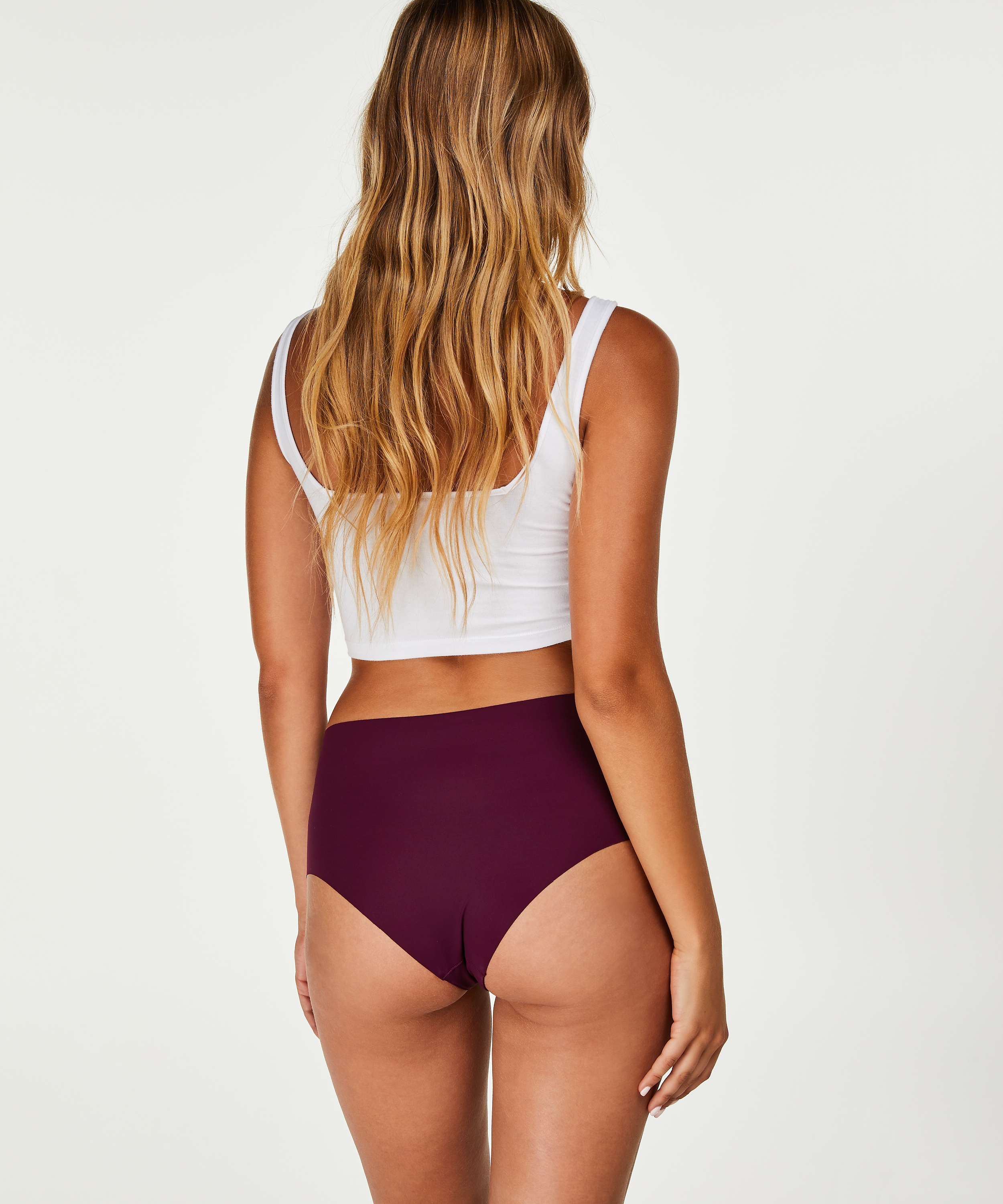 Invisible high waist brazilian, Paars, main