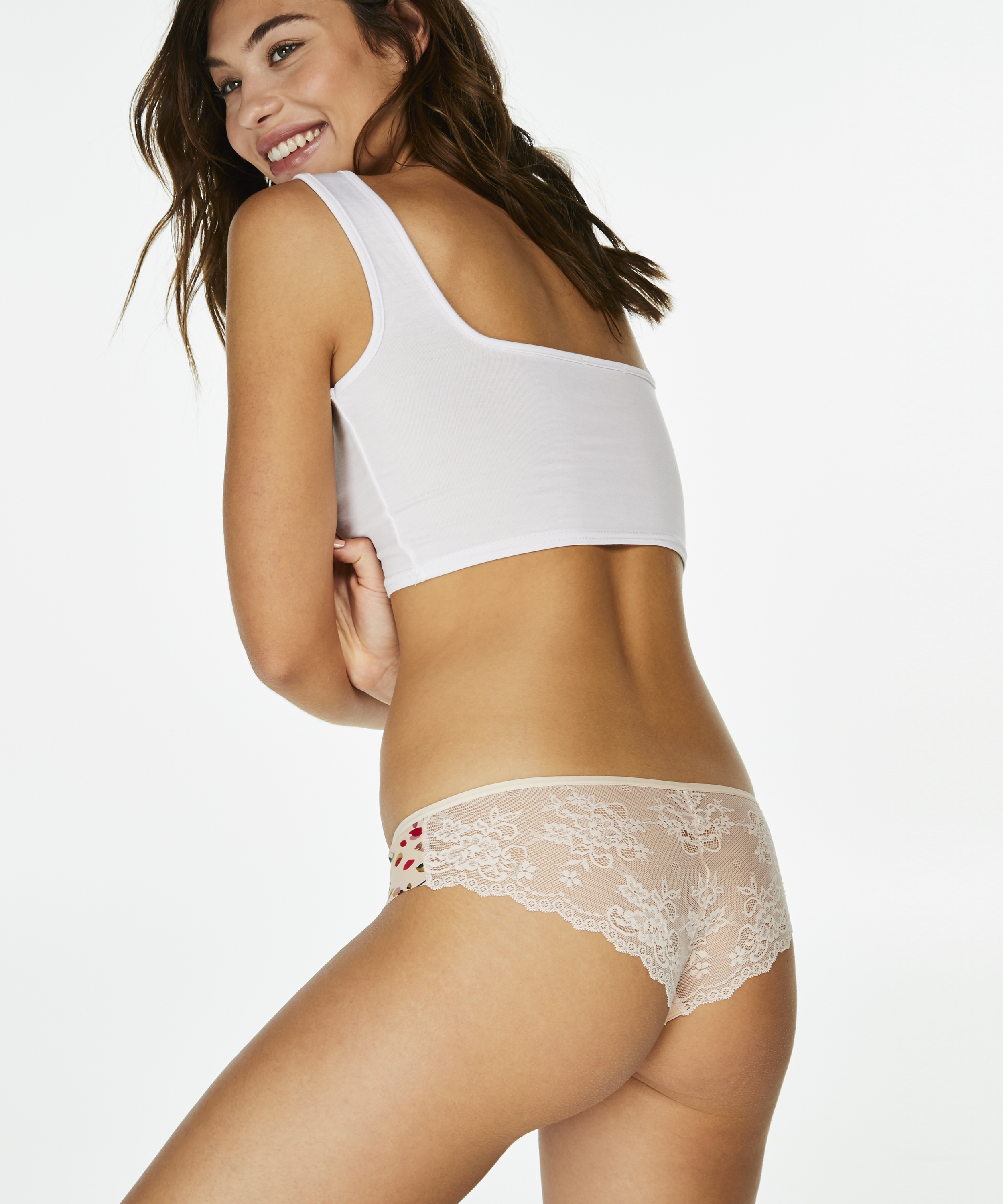 Invisible Brazilian Lace Back, Roze, main