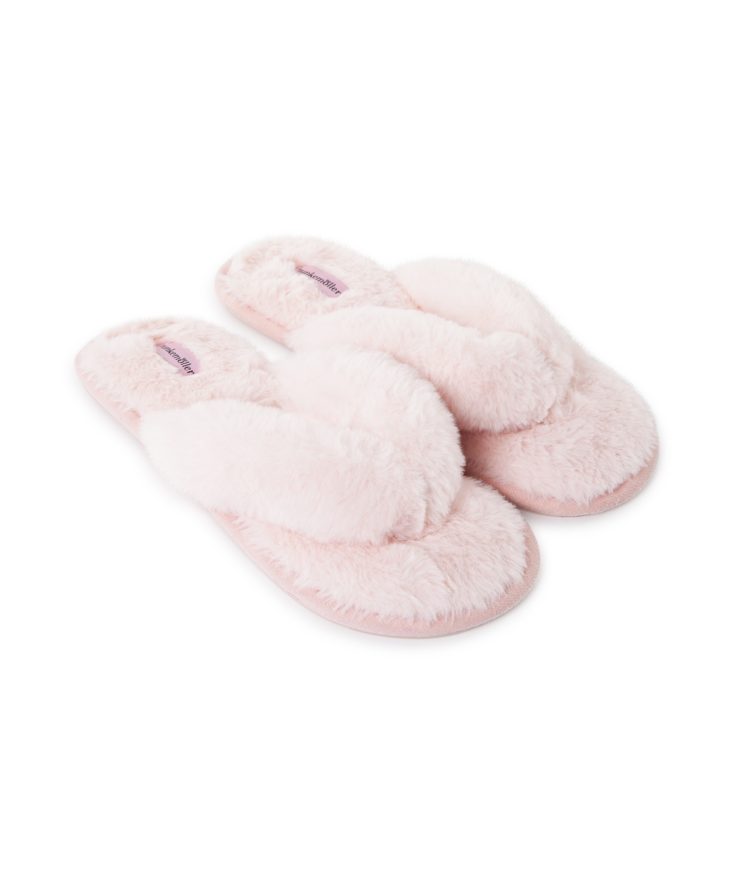 Slippers Fake Fur, Roze, main