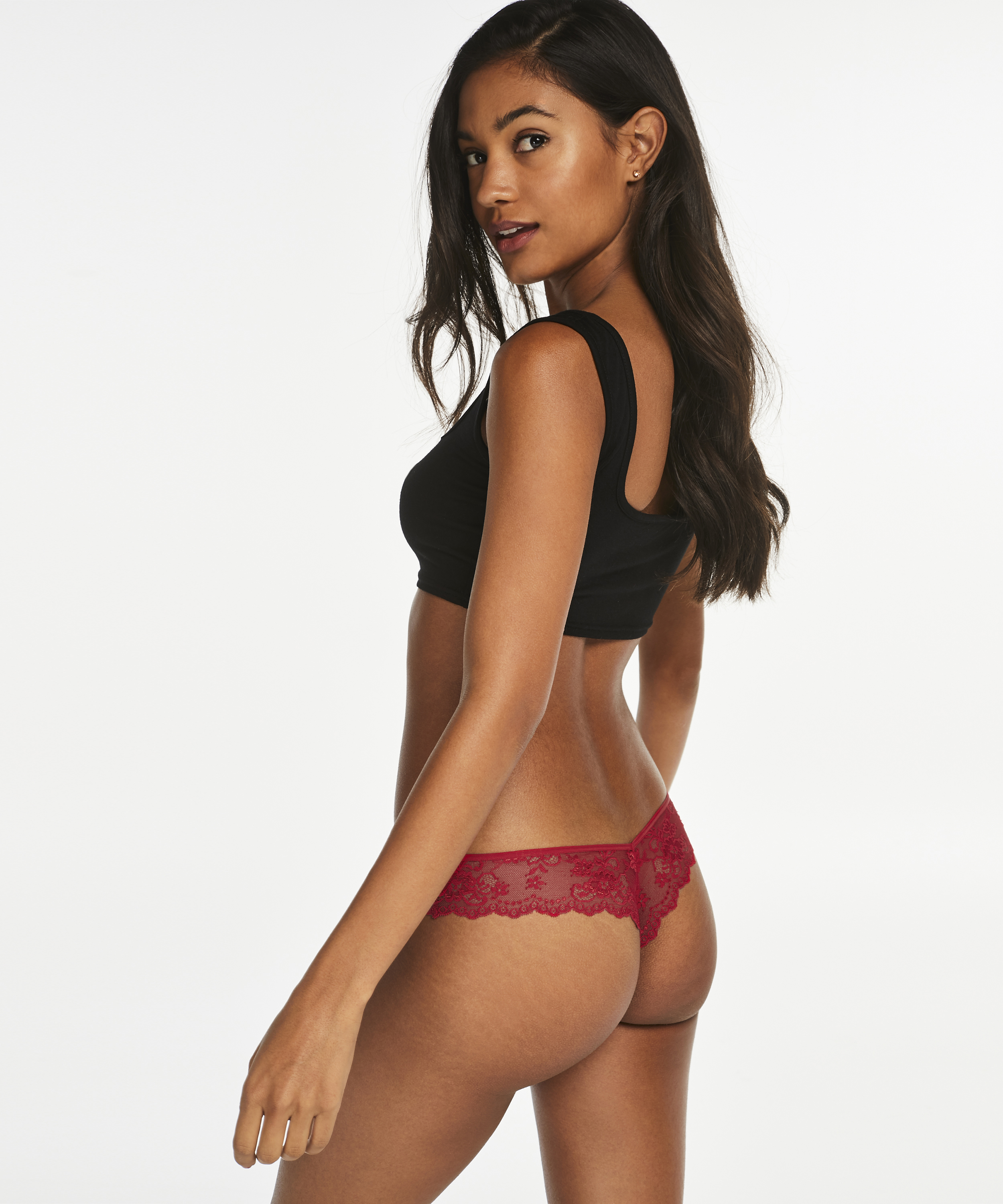 Invisible string Lace back, Rood, main