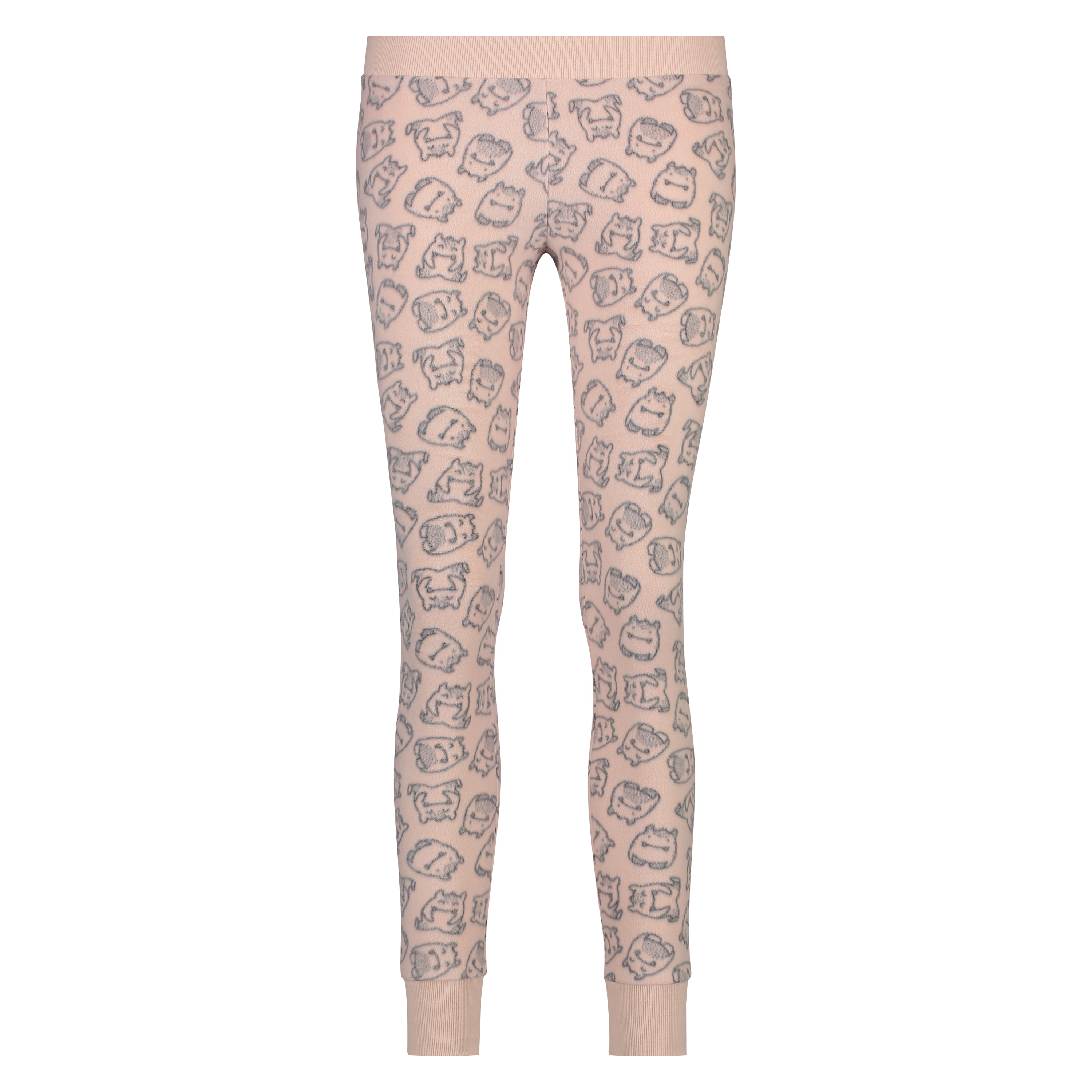 Fleece legging, Roze, main