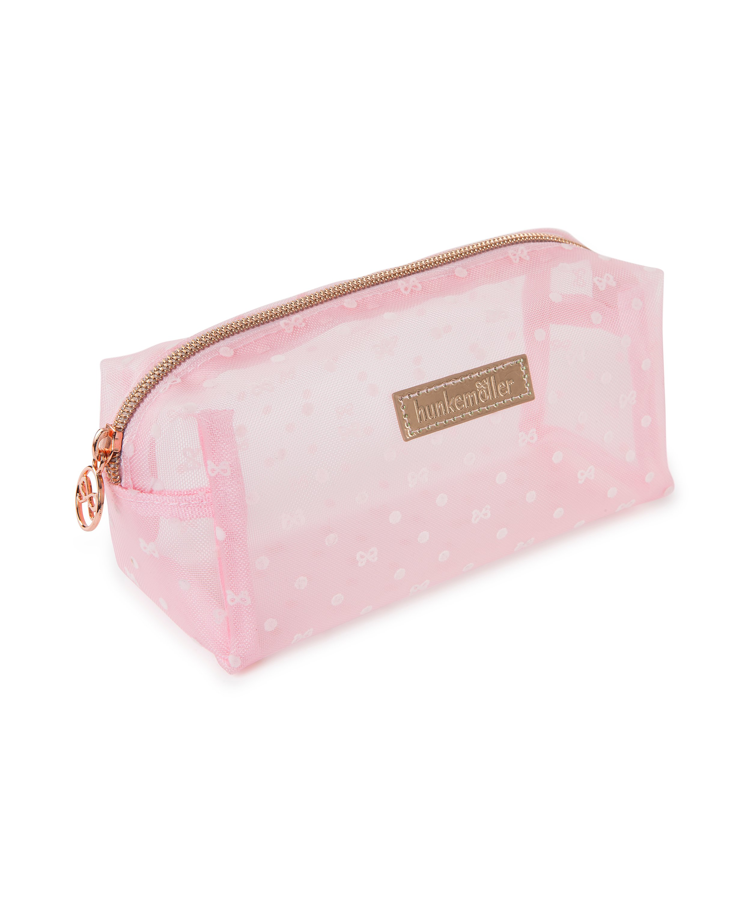 Make-up tas Dot Mesh, Roze, main