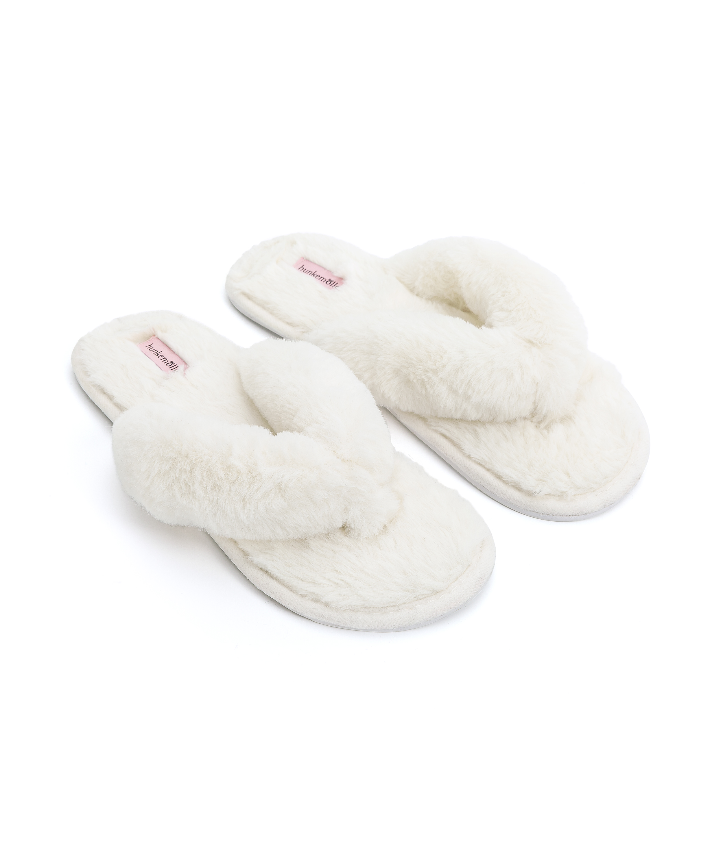 Slippers Fake Fur, Wit, main