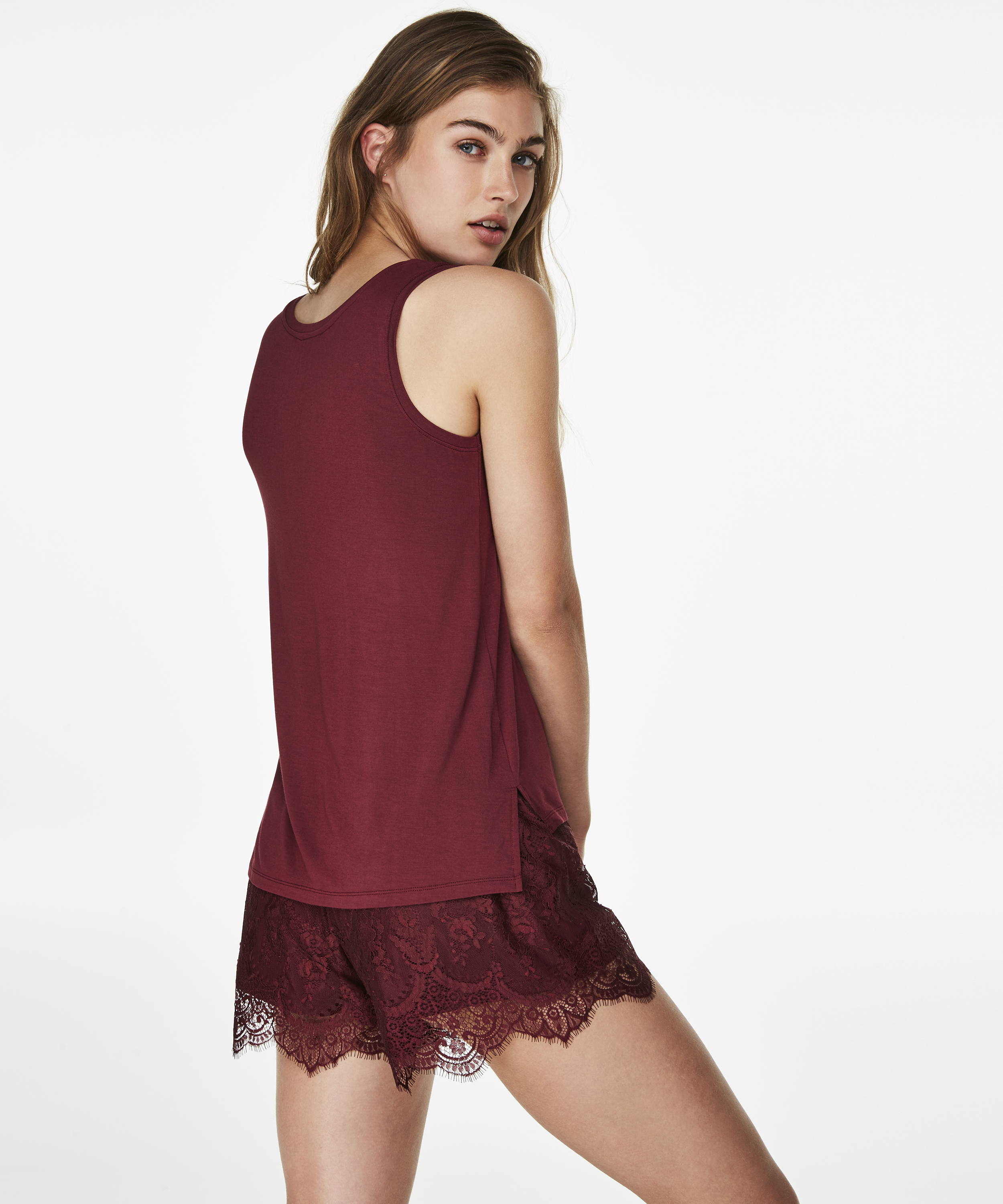 Top Jersey Lace, Rood, main