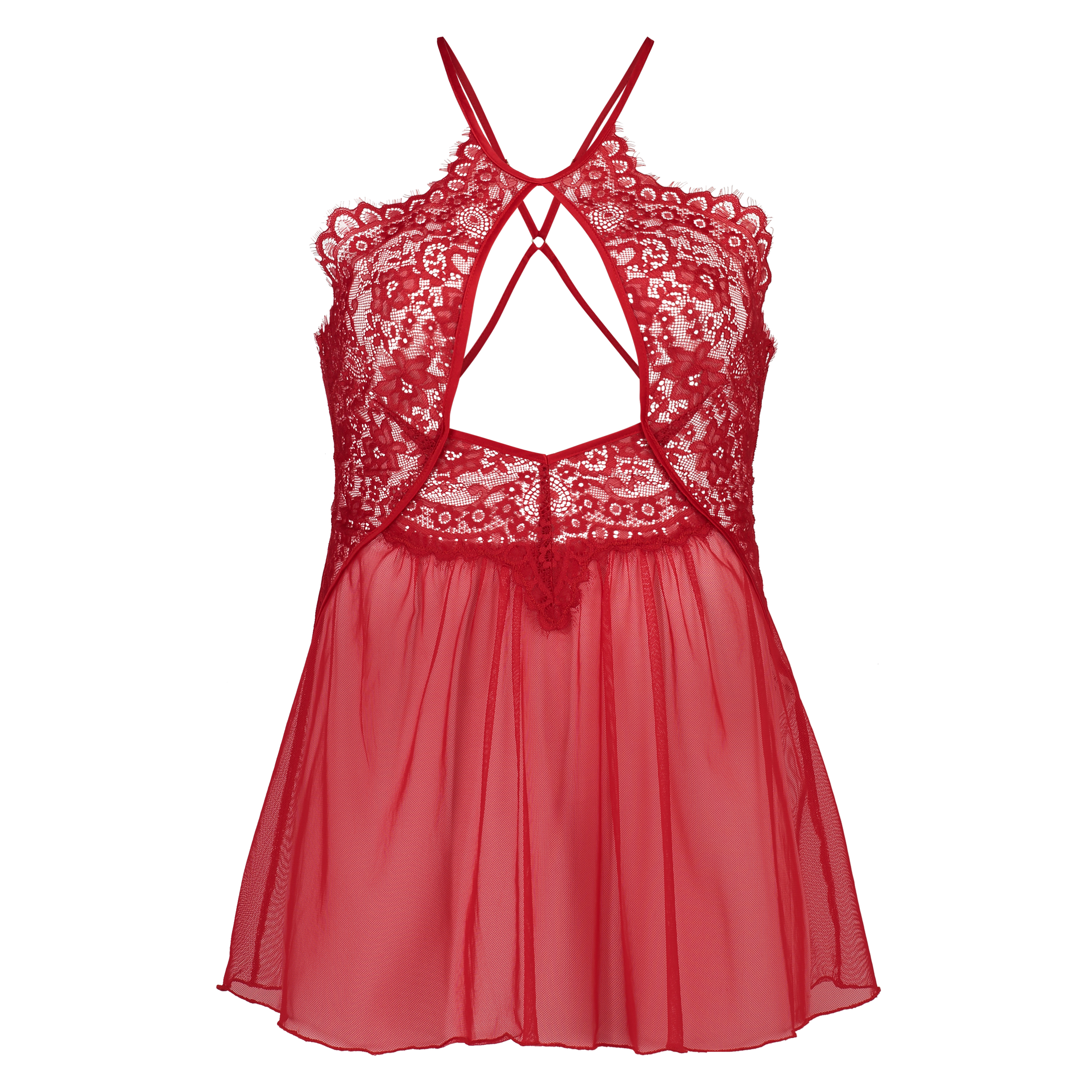 Babydoll Lace, Rood, main